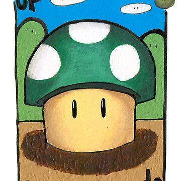 Mario 1up Mushroom by oniontime