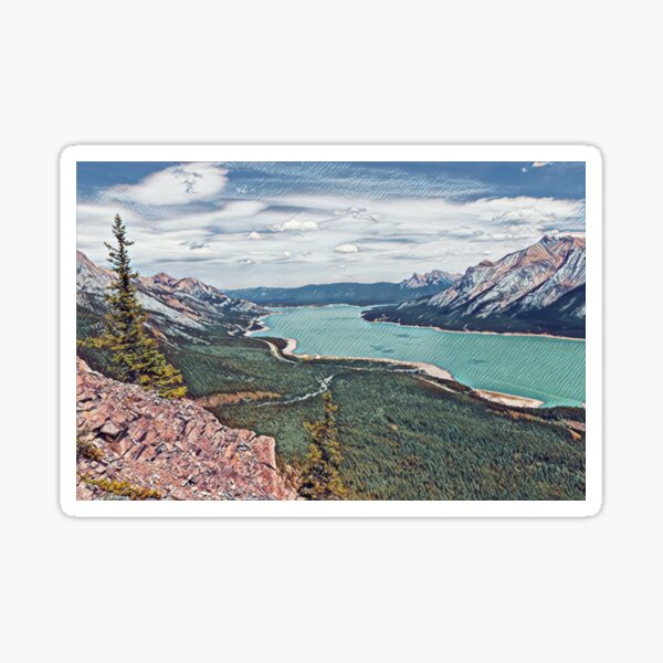 Abraham Lake- Alberta, Canada Sticker
