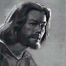 Jesus charcoal by Josef Rubinstein