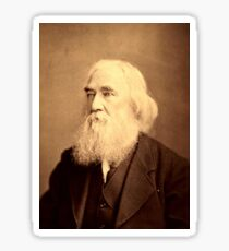 Lysander Spooner Portrait Anarchist Individualist Sticker
