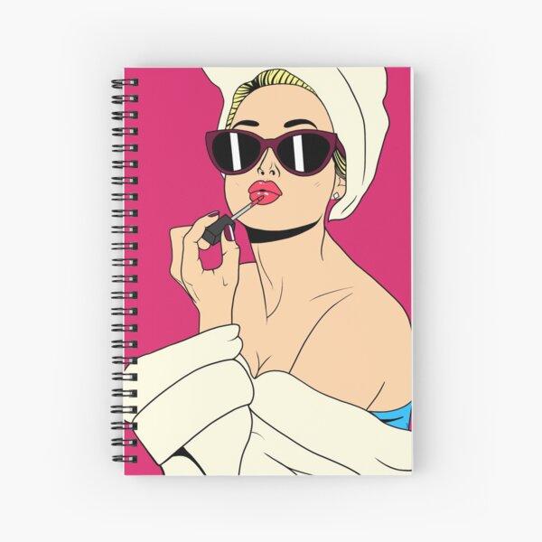 Glamorous Blonde Spiral Notebook