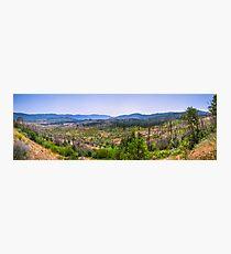 Yosemite Panorama shot Photographic Print