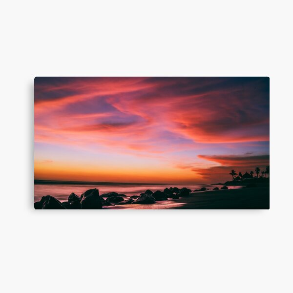 Gorgeous Sunset at the Beach Canvas Print