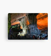 Sung Sot (Surprise) Cave in Ha Long Bay, Vietnam Canvas Print