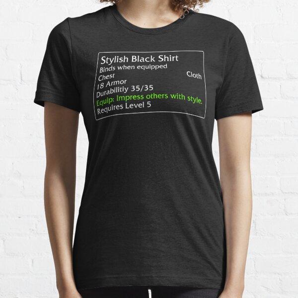Elegante camisa negra Camiseta esencial