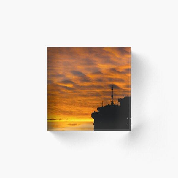 Orange sunset Acrylic Block