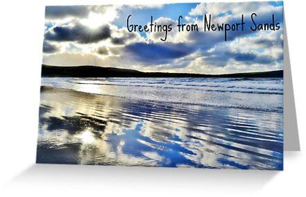 Newport Sands, Pembrokeshire - Postcard or Greeting Card by Paula J James