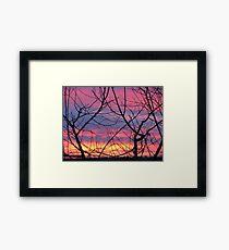 Colorful December Evening Framed Print