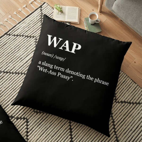 Dictionary Funny Definition of WAP Floor Pillow