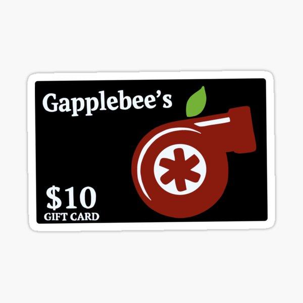 gapplebee's gift card Sticker