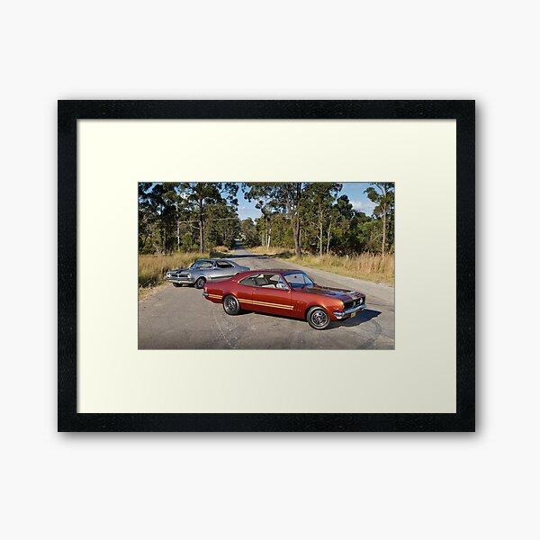 Steve Trappell's Holden Monaros Framed Art Print
