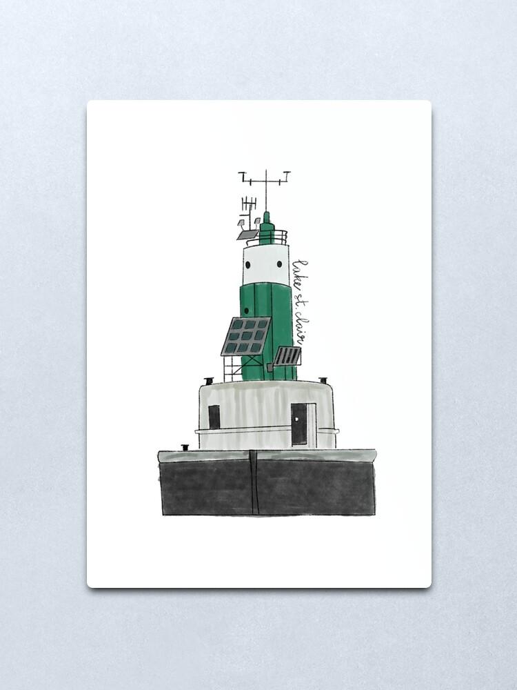 Alternate view of Lake St Clair Lighthouse Metal Print