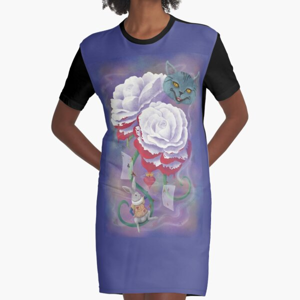 Painted Roses for Wonderland's Heartless Queen Graphic T-Shirt Dress