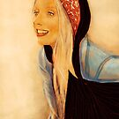Anita with Black Scarf by Amy Stubbington