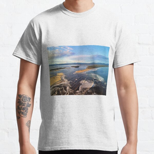 Sunset Mallacoota Main beach looking north over the mouth Classic T-Shirt