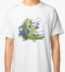 Tyranitar with Blue Rocky Scratches Classic T-Shirt