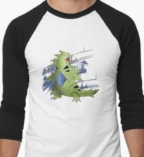 Tyranitar with Blue Rocky Scratches Men's Baseball ¾ T-Shirt