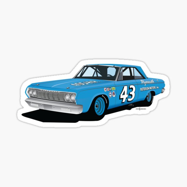1964 Petty Plymouth Sticker