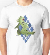 Tyranitar with Blue Diamond Pattern Unisex T-Shirt