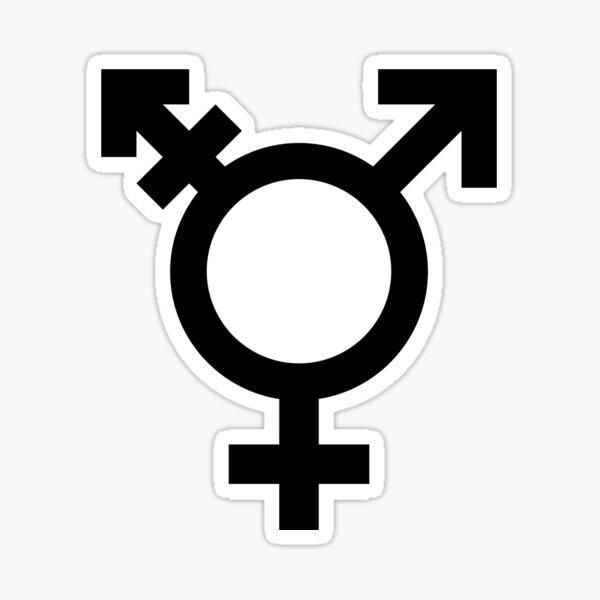 Símbolo de género transgénero Pegatina