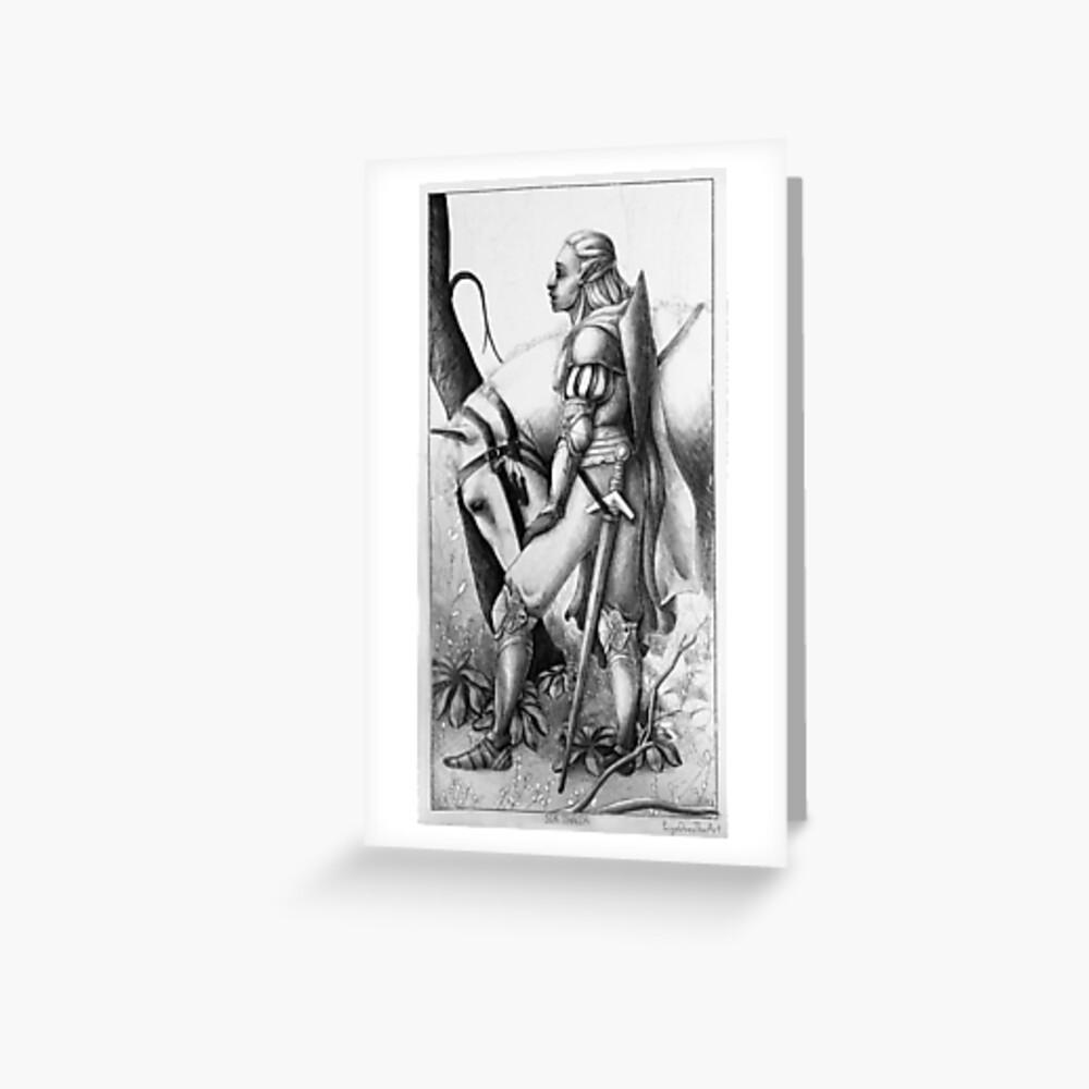 "Female Knight Illustration ""Sir Thalia"" Greeting Card"