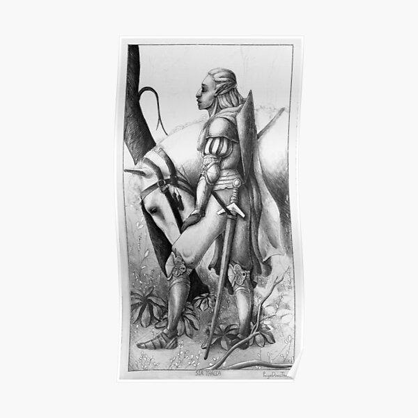 "Female Knight Illustration ""Sir Thalia"" Poster"