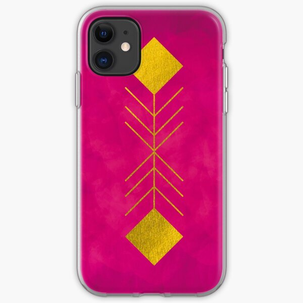Geometrical Feather Funda blanda para iPhone