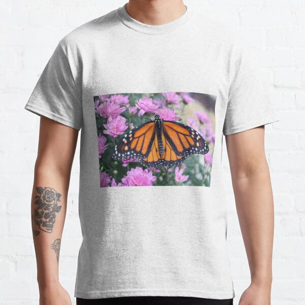 Monarch Butterfly & Flowers Classic T-Shirt
