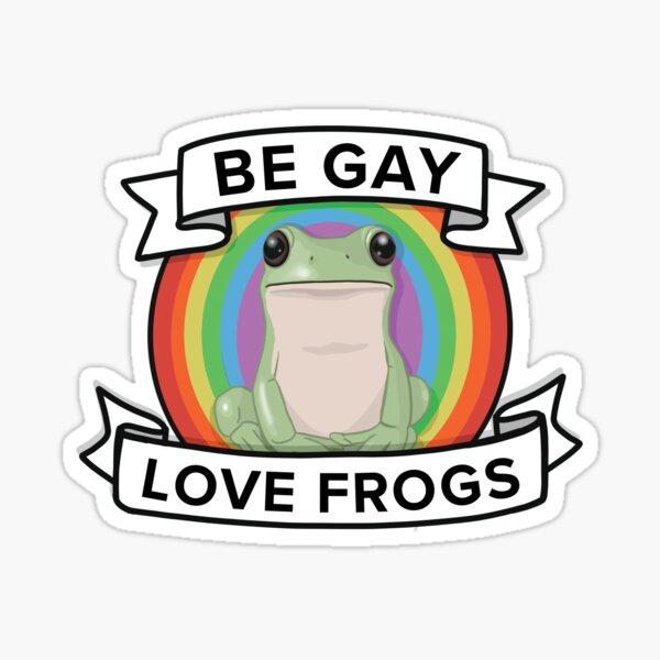 Be Gay Love Frogs Sticker