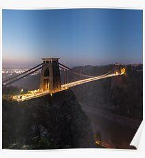 Daybreak @ the iconic Suspension Bridge Poster