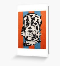 Galactus on Blue and Orange Greeting Card