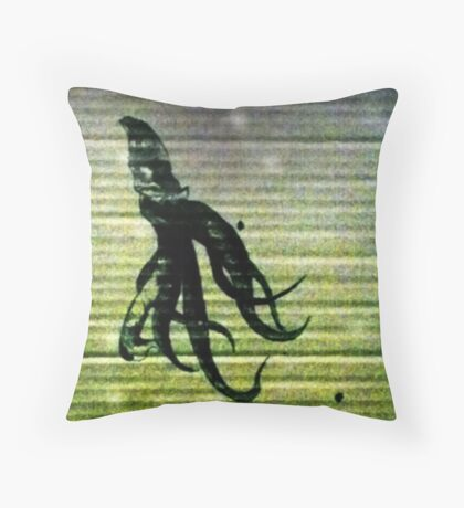 At the bottom of the cardboard sea  Throw Pillow