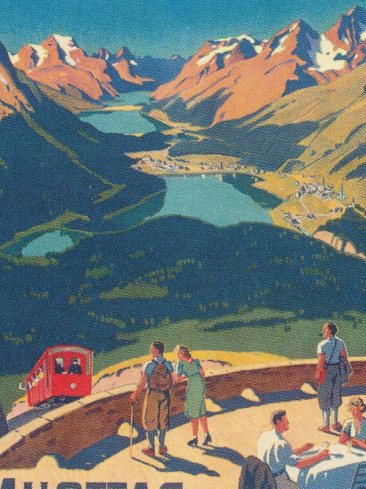 Muottas Muragl, Switzerland Vintage Travel Poster by vintagevivian