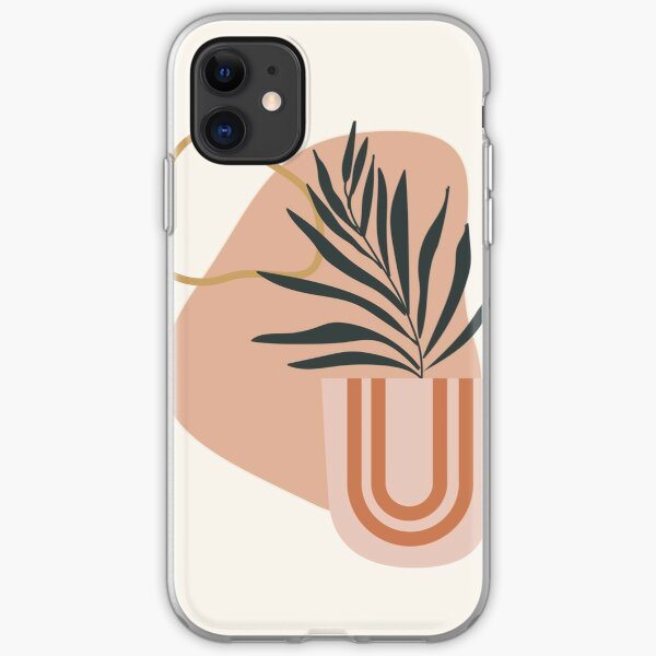 Abstract Boho Plant iPhone Soft Case