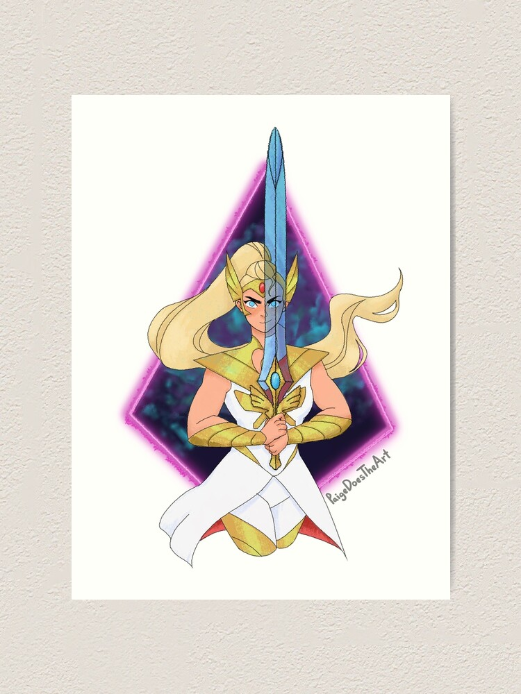 Alternate view of Shera Adora Sword Art Print