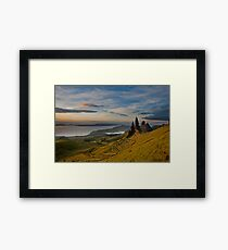 Sunrise on the old man of storr Framed Print