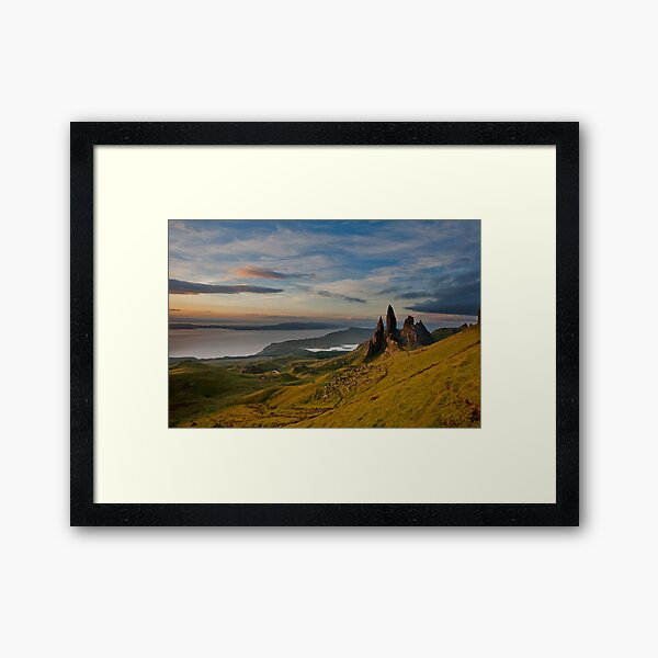Sunrise on the old man of storr Framed Art Print