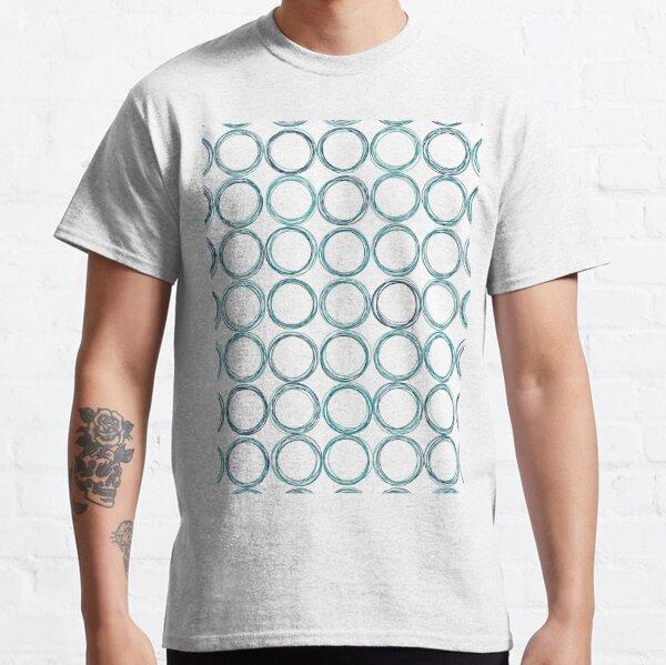 Blue circles, off-center Classic T-Shirt
