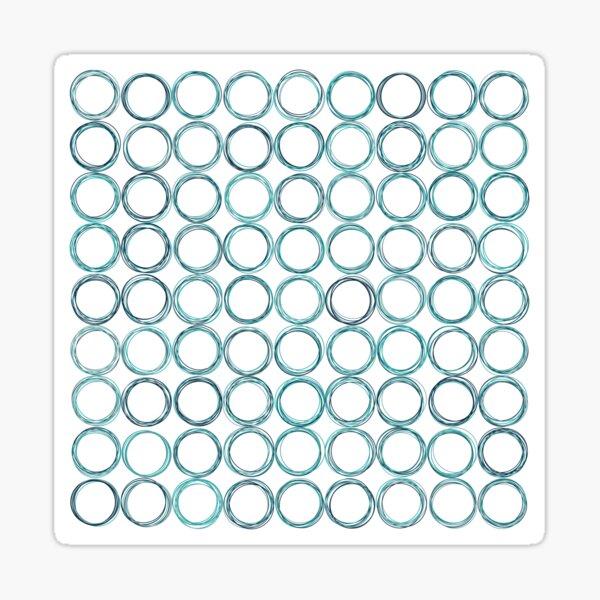 Blue circles, off-center Sticker