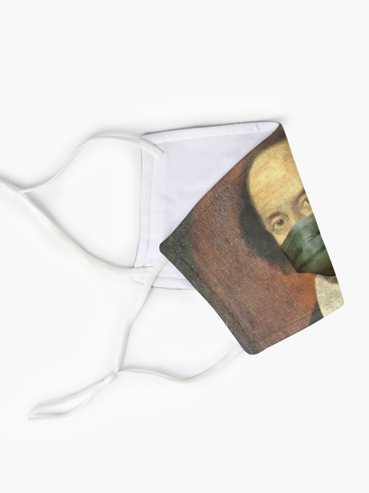 Alternate view of Funny Artworks of William Shakespeare With face mask Pandemic Mask