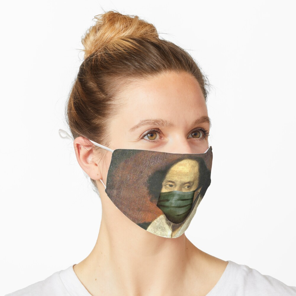 Funny Artworks of William Shakespeare With face mask Pandemic Mask