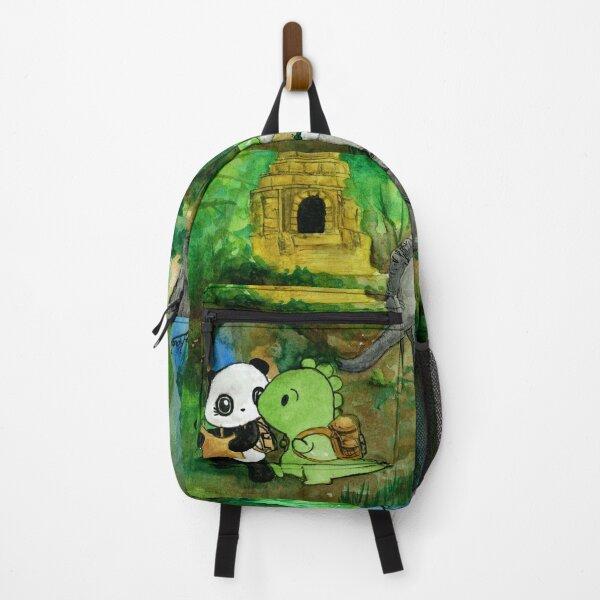Dino & Panda Watercolour Painting: Jungle Adventure Backpack