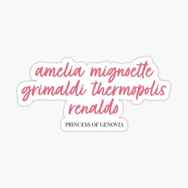 Princess of Genovia - Princess Diaries Sticker