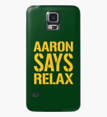 Aaron sagt Relax - Green Bay Hülle & Klebefolie für Samsung Galaxy