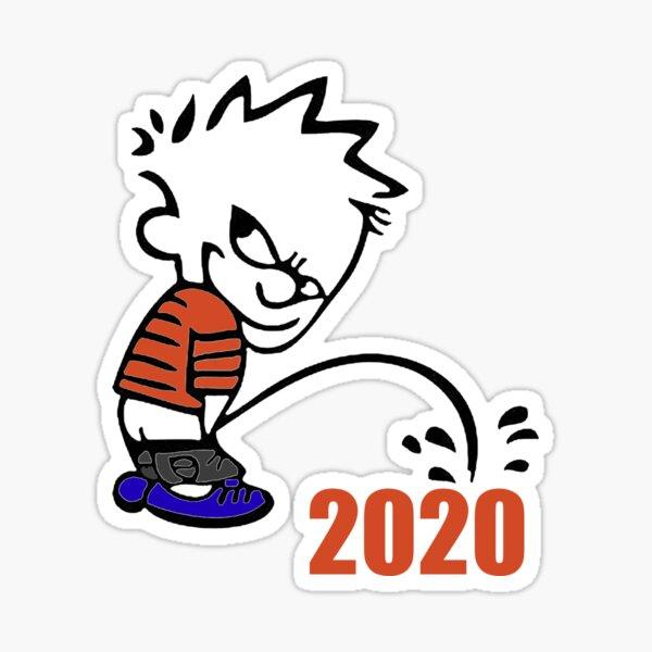 Calvin orinando 2020 Pegatina
