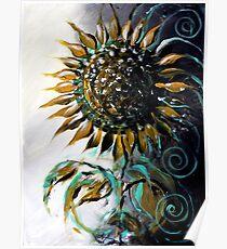 Abstract SUNFLOWER Art, Beautiful, Deep, Rich, Meaningful Scarpace Original Design Poster