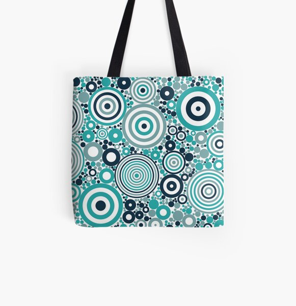 Flowering Certification (blues) All Over Print Tote Bag