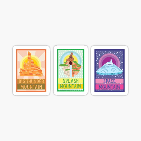 Ride Mountains Poster Trio Sticker