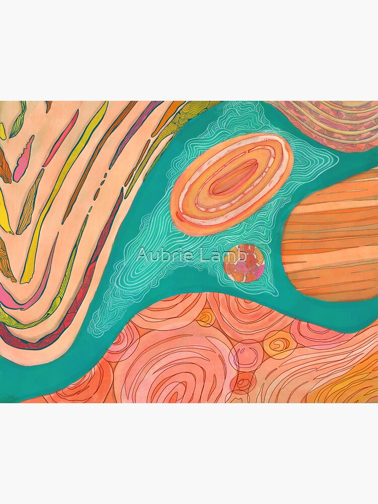 Wavy Orange Abstract  by Aubb