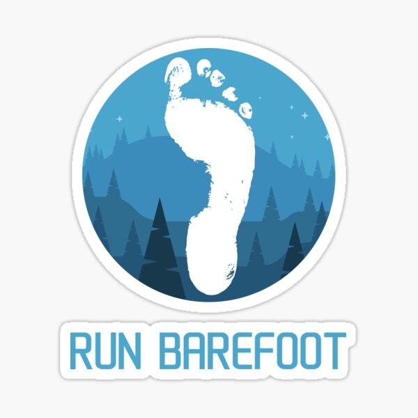 Run barefoot - mountains Sticker